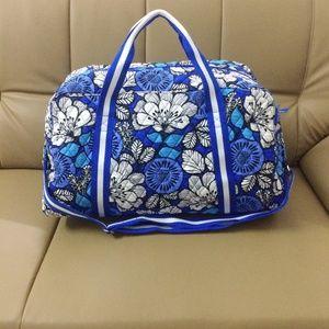 Vera Bradley Round Duffel Bag Blue Bayou